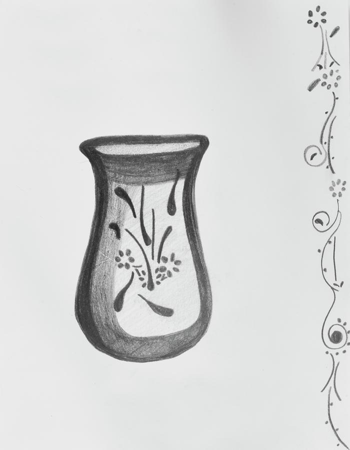 Vase Drawing - Vase by Lynette Fekete