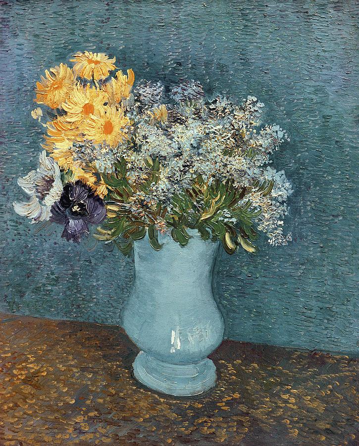 Vase Of Flowers Painting By Vincent Van Gogh