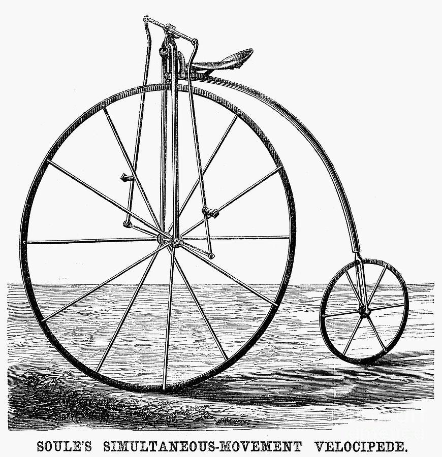 1869 Photograph - Velocipede, 1869 by Granger