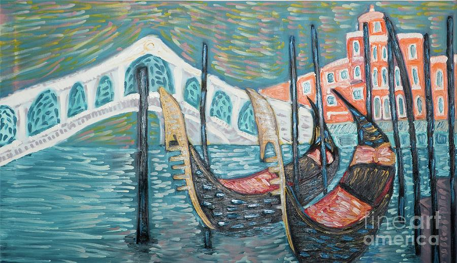 Venice Painting by Roni Goldfinger