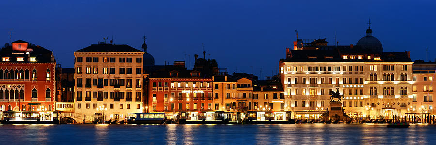 Venice skyline at night panorama by Songquan Deng