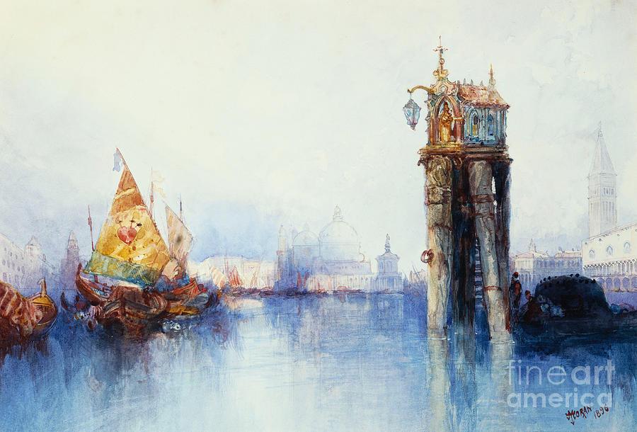 Thomas Moran Painting - Venice by Thomas Moran
