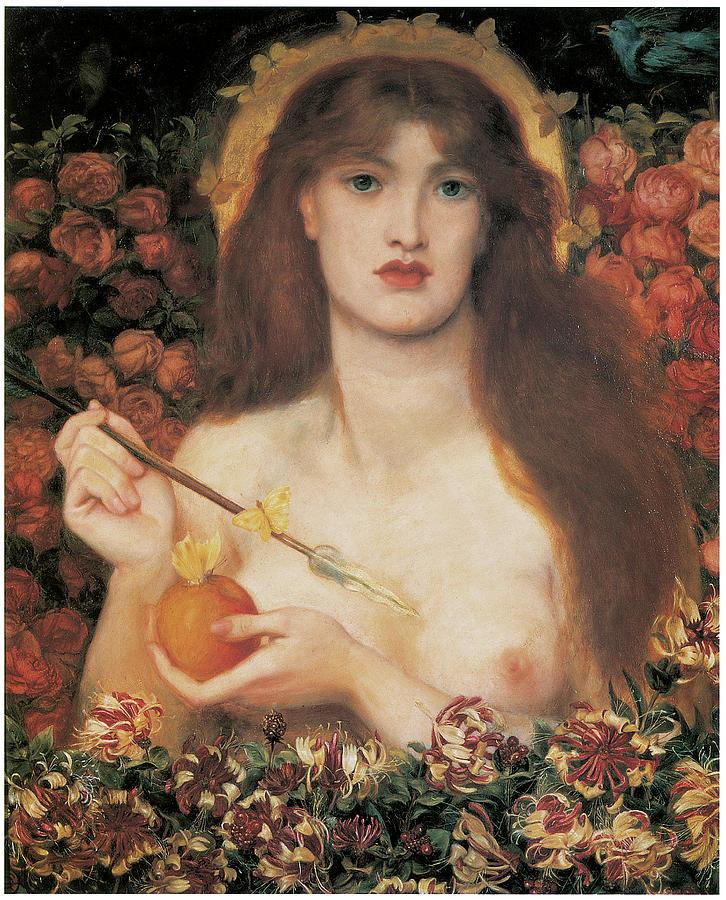 Dante Gabriel Rossetti Painting - Venus Verticordia by Dante Gabriel Rossetti