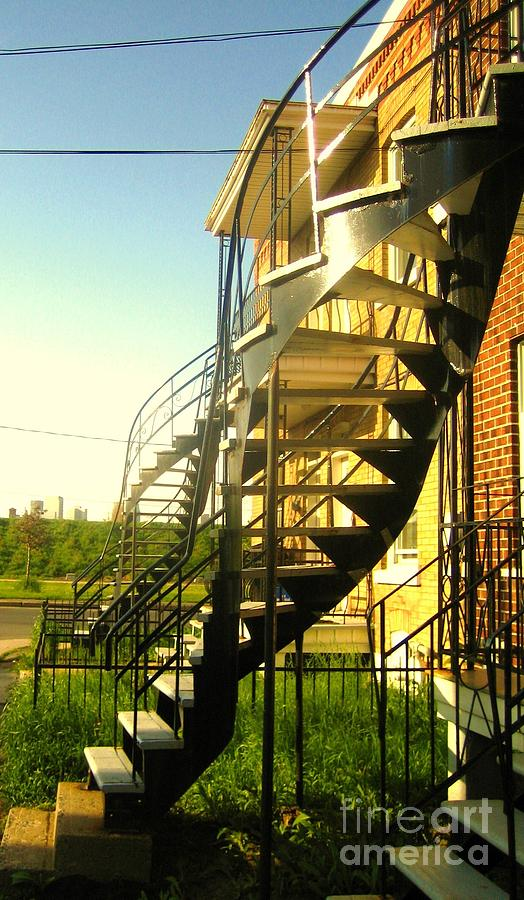 Montreal Photograph - Verdun Stairs by Reb Frost
