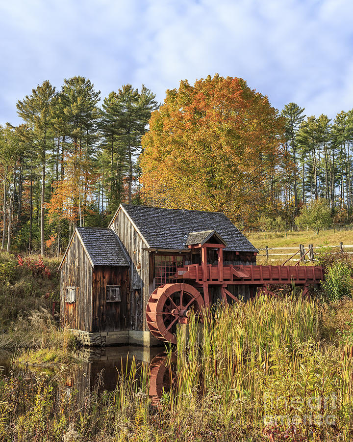 Vermont Photograph - Vermont Grist Mill by Edward Fielding