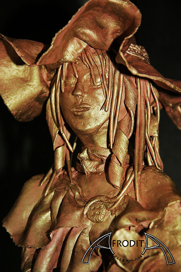 Portrait Sculpture - Veronica by Afrodita Ellerman