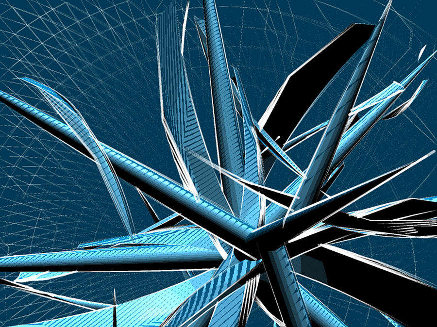 Abstract Arc Painting - Vibrating Reed 02 by Joerg Bernhard Klemmer