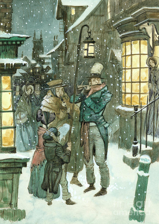 Victorian Painting - Victorian Christmas Scene by Peter Jackson