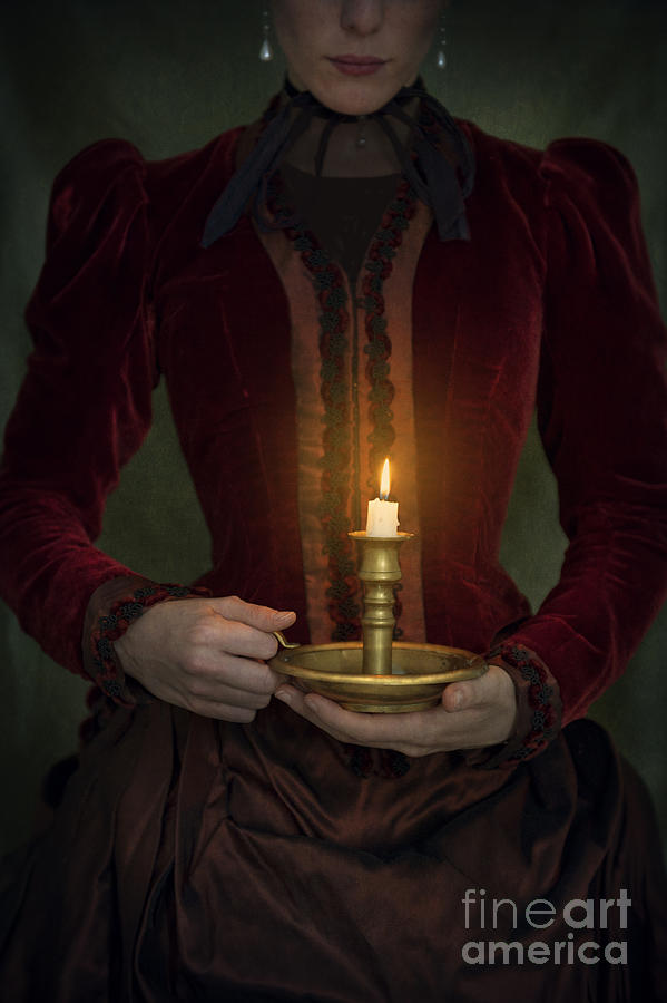 Victorian Woman Holding A Candle Photograph By Lee Avison