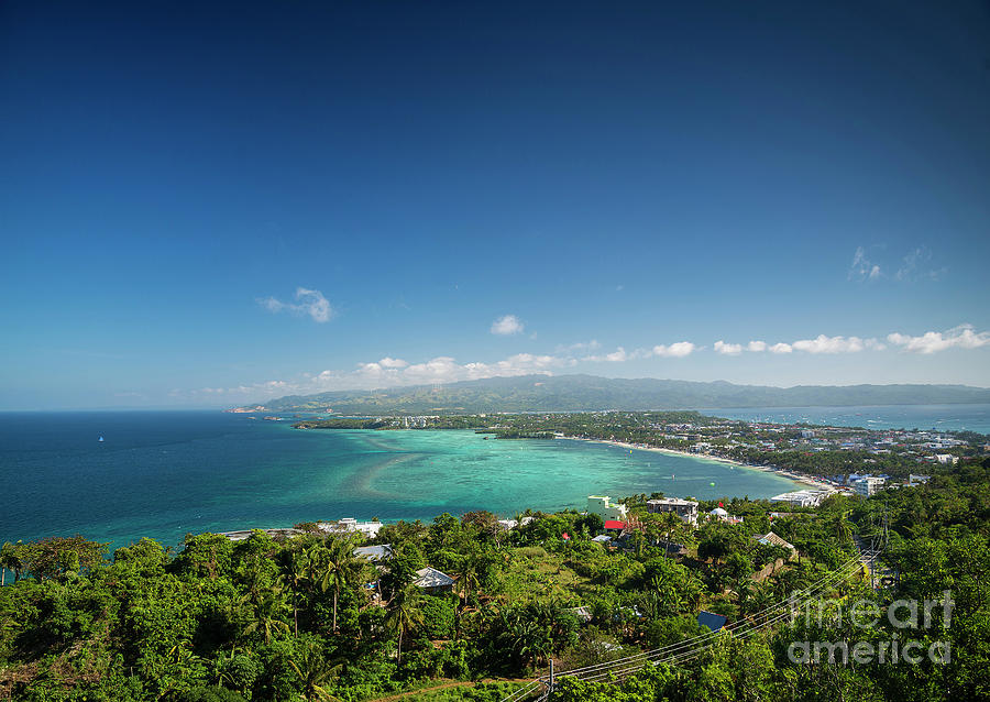 Area Photograph - View Of Boracay Island Tropical Coastline In Philippines by Jacek Malipan