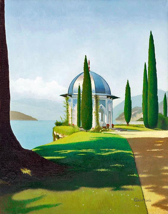 Gardens Painting - Villa Melzi Gardens I by Eduardo De La Maria