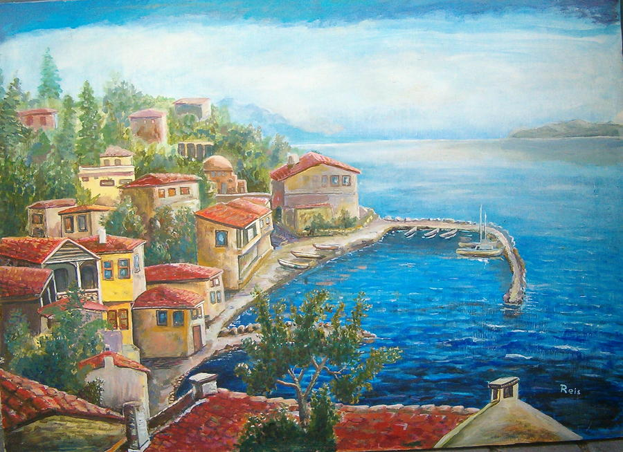 Landscape Painting - Village by Fahrettin  Oktay