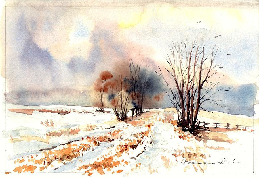 Village Painting - Village Scene Iv by Suzann Sines