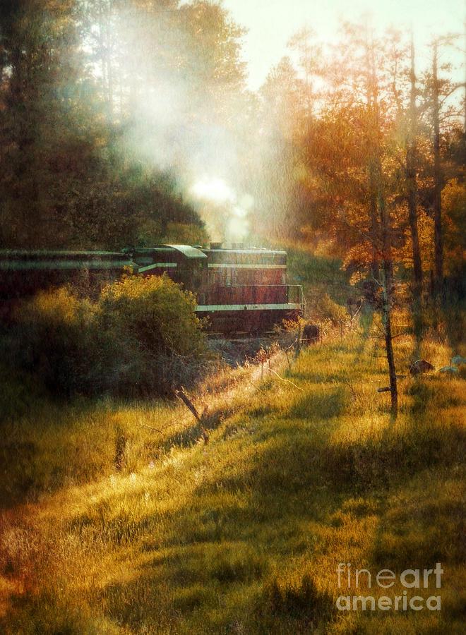 Engine Photograph - Vintage Diesel Locomotive by Jill Battaglia