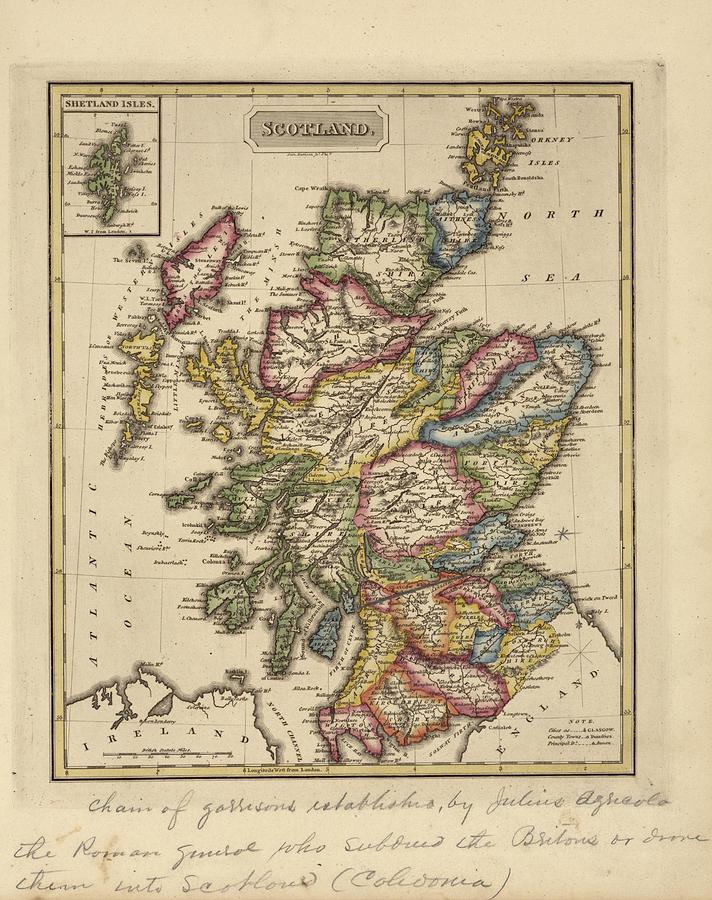 Antique Map Of Scotland