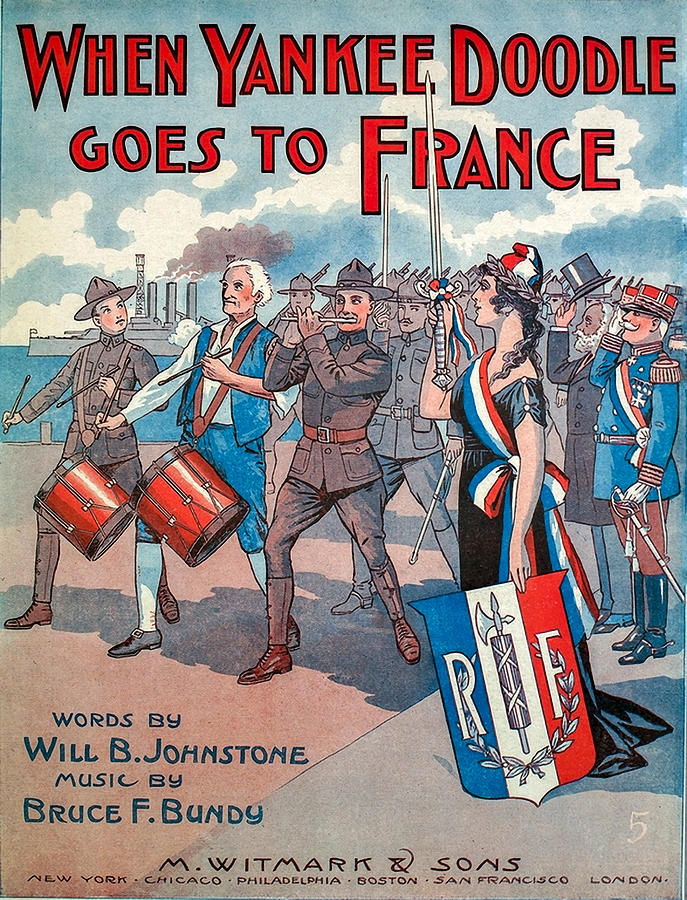 Vintage Sheet Music Photograph - Vintage Sheet Music Cover Art - WW1 by Art Phaneuf