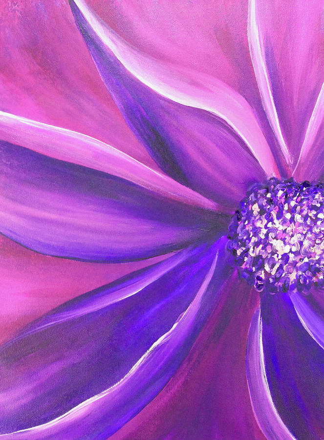 Garden Flower Painting - Vitality by Jenny Bagwill