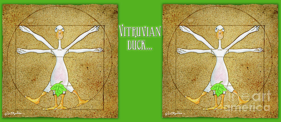 Will Bullas Painting - Vitruvian Duck... by Will Bullas