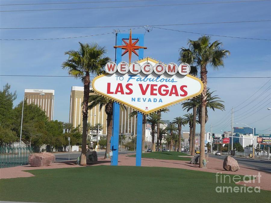Sign Photograph - Viva Las Vegas by Barb Montanye Meseroll