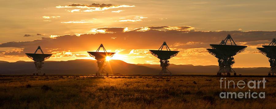 Satellite Dish Photograph - Vla At Sunset by Matt Tilghman