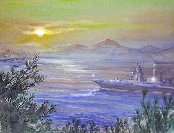 Vladivostok Painting by Oksana Franklin