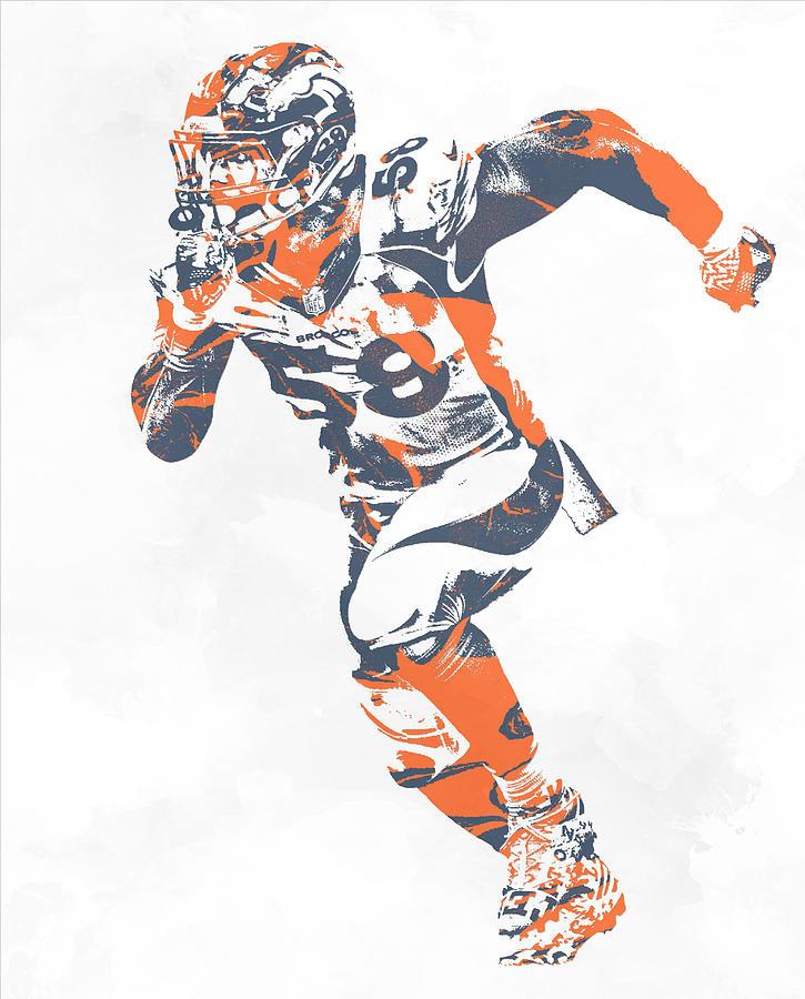 Von Miller Denver Broncos Pixel Art 30 Mixed Media by Joe Hamilton