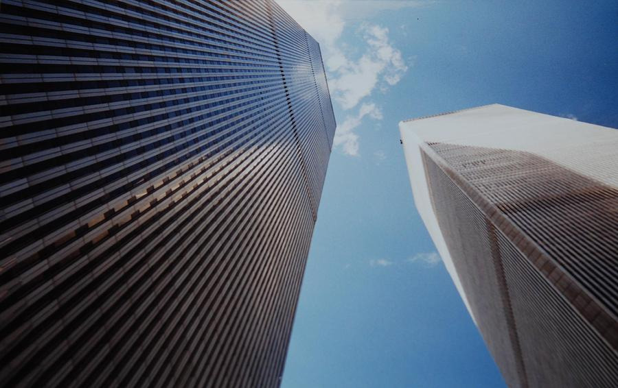 Wtc Photograph - W T C 1 And 2 by Rob Hans
