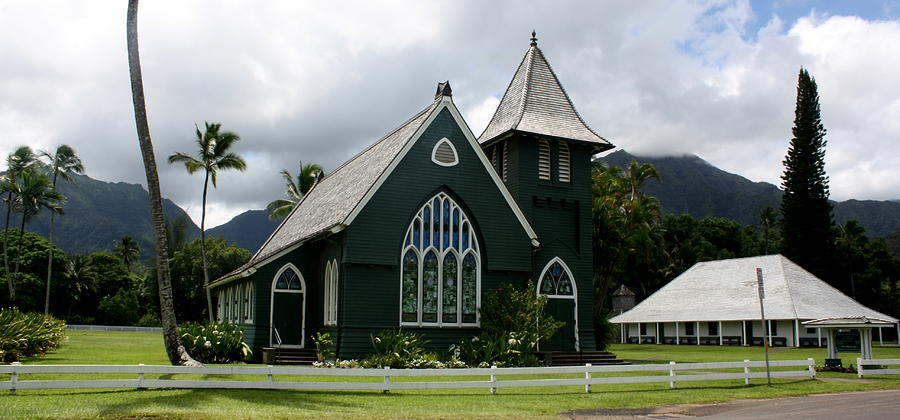 Church Photograph - Waioli Huiia Church by Annie Babineau