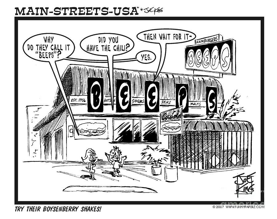 Street Scape Digital Art - Beeps by Joe King