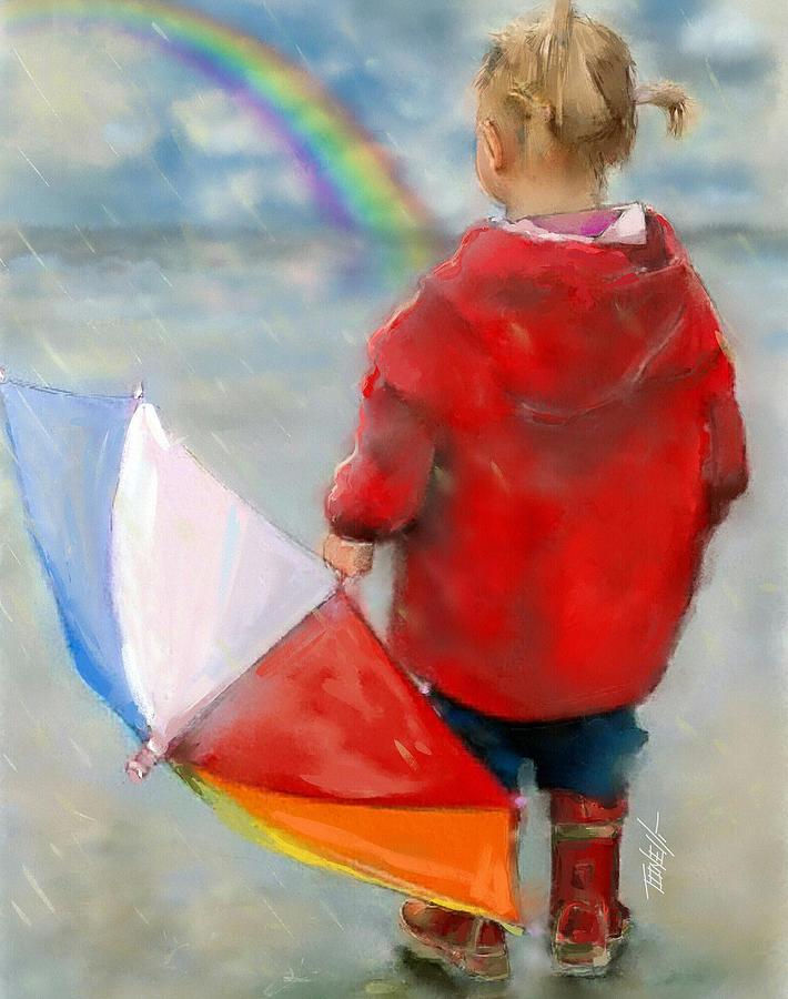 Rainbows Waiting For A Rainbow. Mixed Media