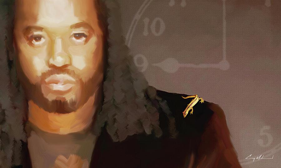 Portrait Painting - WAK by Carey Muhammad