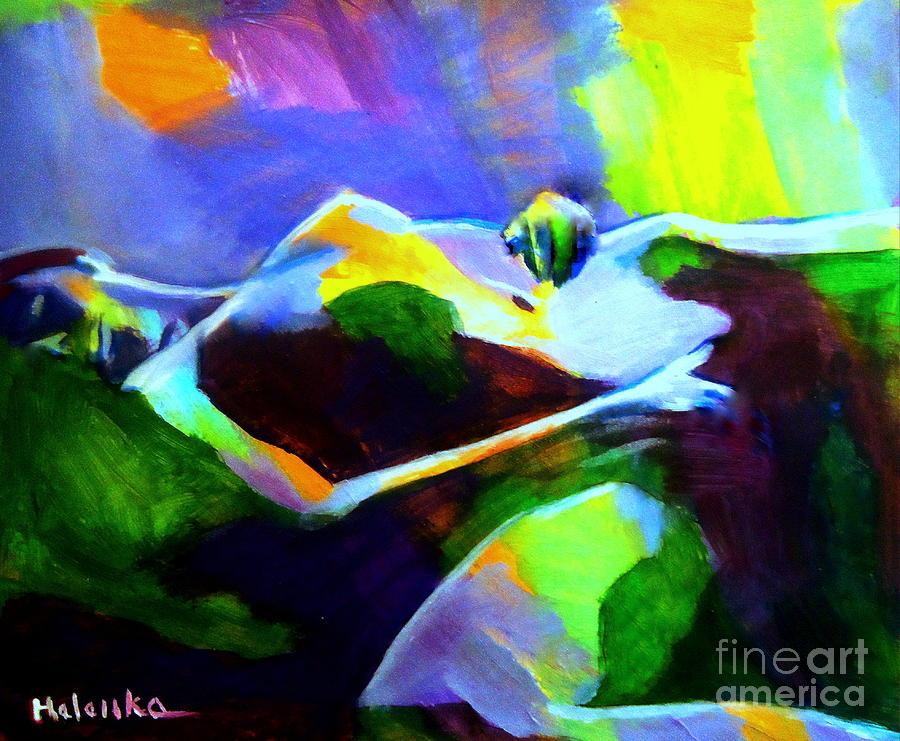 Art Painting Nude Painting - Warm Body by Helena Wierzbicki