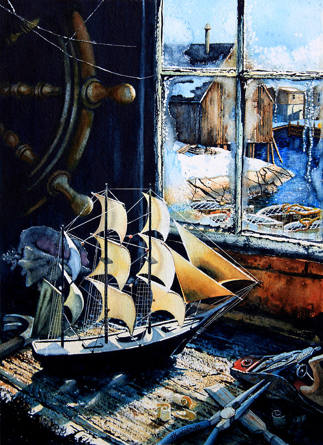 Still Life Painting Painting - Warm Winter Pastime by Hanne Lore Koehler