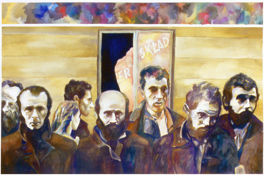 Karl Painting - Warsaw Ghetto by Karl Frey