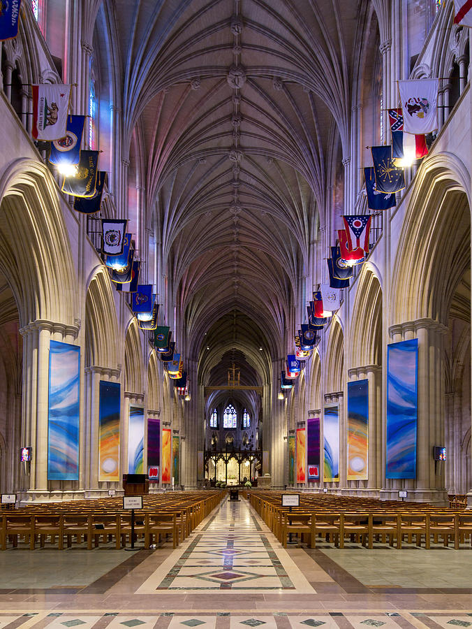 Washington Photograph - Washington National Cathedral - Washington Dc by Brendan Reals