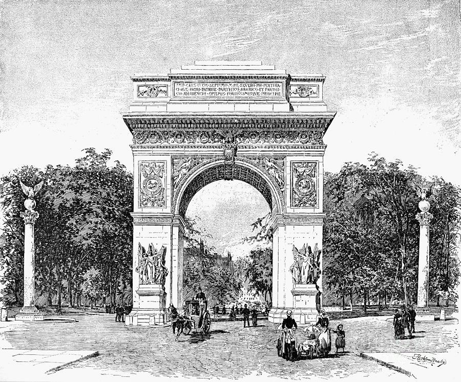 1889 Photograph - Washington Square Arch by Granger