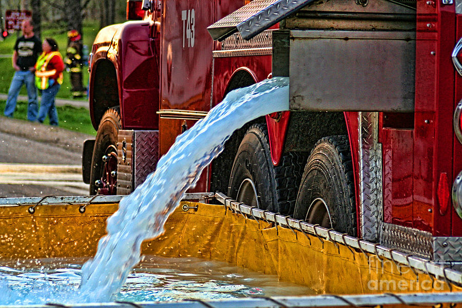 Firefighting Photograph - Water Dump by Tommy Anderson