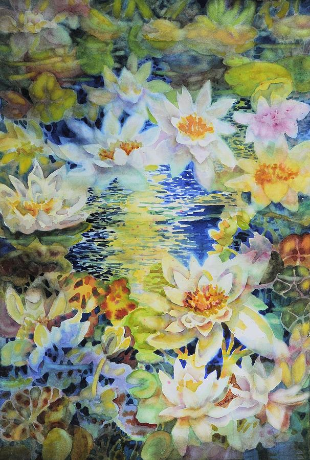Water Lilies Painting - Water Garden by Ann  Nicholson