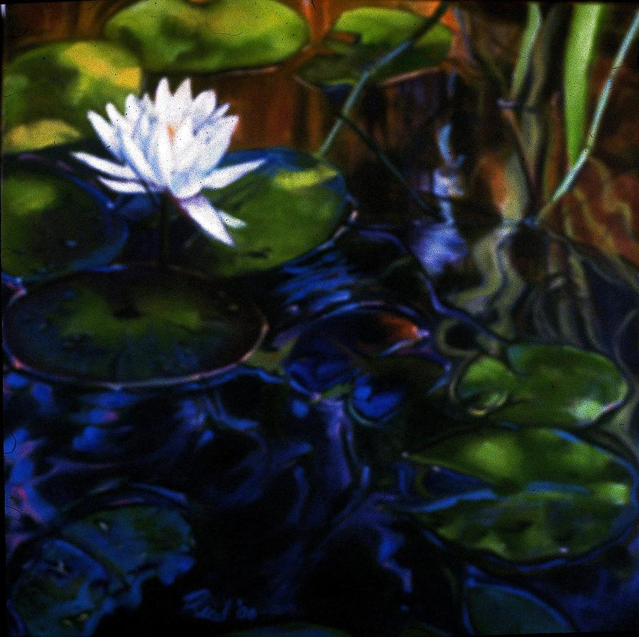 Water Garden Painting - Water Garden Series-m by Patricia Reed