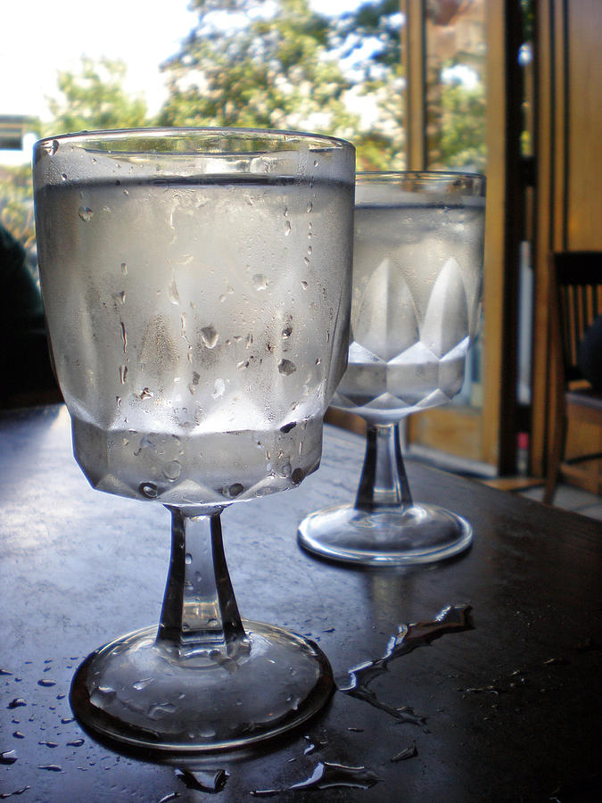 Water Glasses Sweating Photograph by Iris Posner
