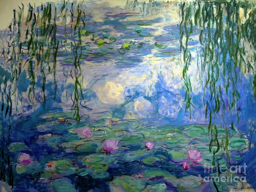 Claude Photograph - Water Lilies, Nympheas, By Claude Monet,  Musee Marmottan Monet, by Peter Barritt