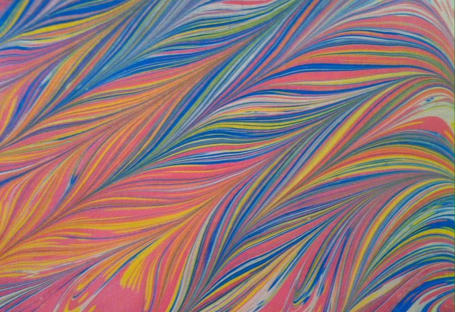 Ebru Painting - Water Marbling Art ,ebru by Dilan C