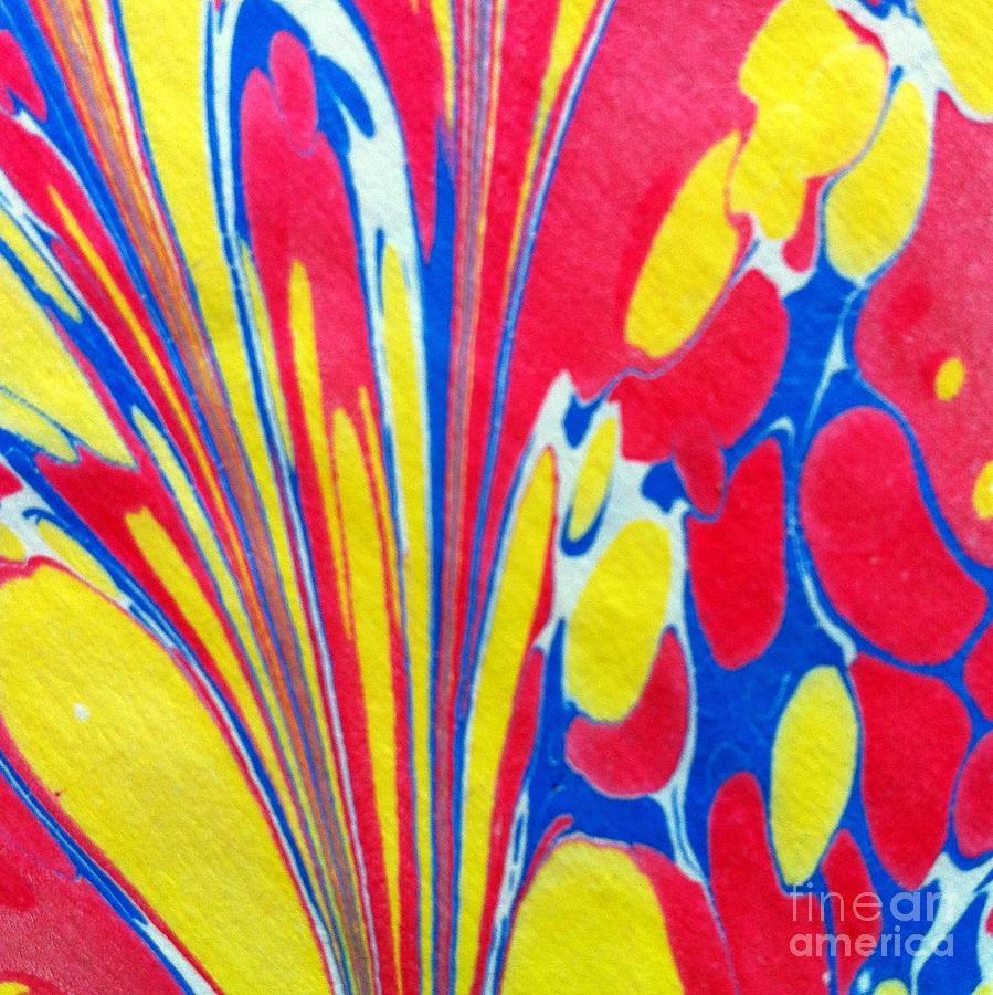 Abstract Painting - Water Marbling Art, Ebru by Dilan C