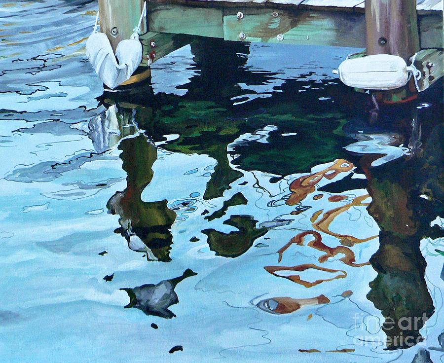 Water Painting - Water Reflections 1 by Sandra Bellestri