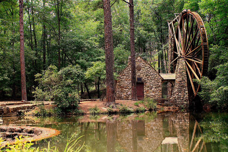 Berry College Photograph - Water Wheel by Jason Blalock
