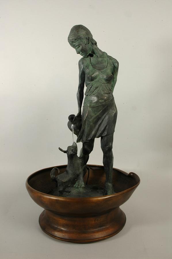 Figurative Sculpture - Waterdancers by David Varnau