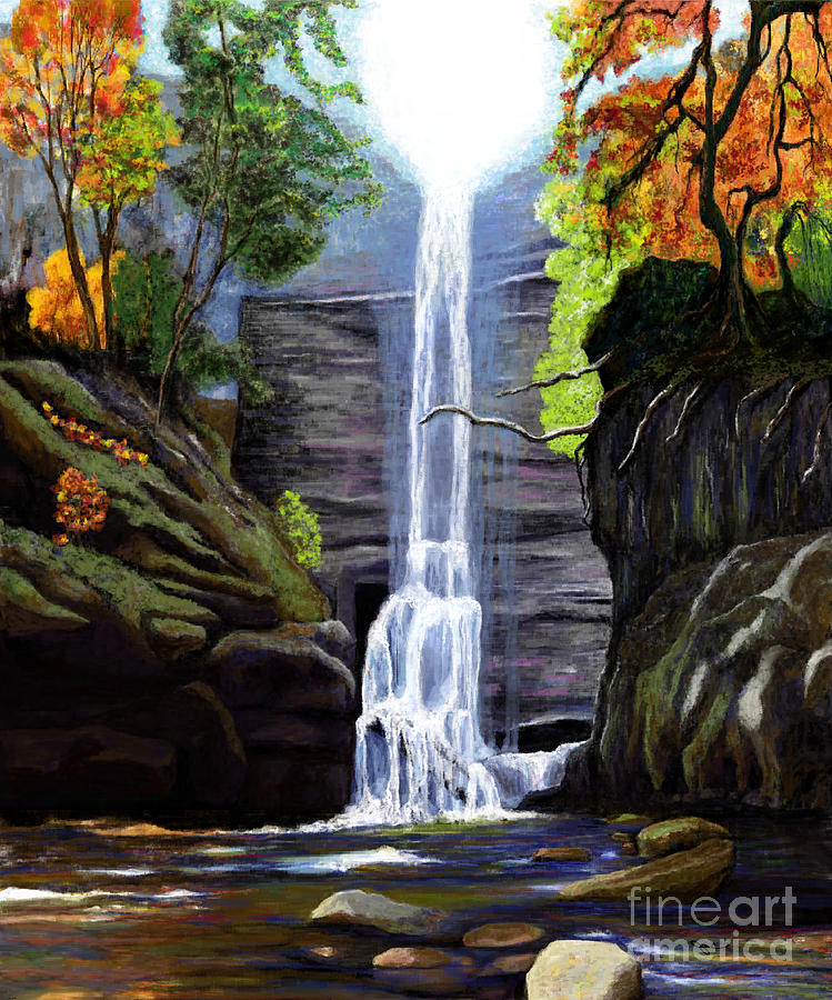 Waterfall at Starved Rock by Jackie Case