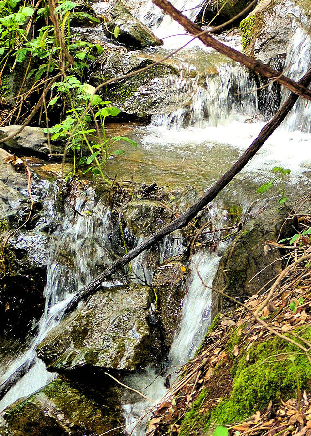 Rock Photograph - Waterfall by Bill Mollet