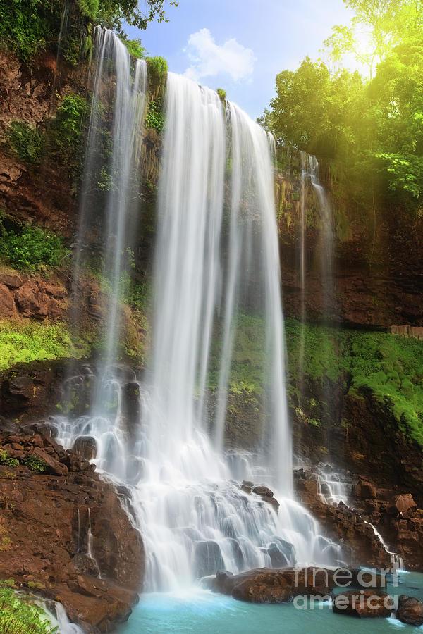 Waterfall Photograph - Waterfall by MotHaiBaPhoto Prints