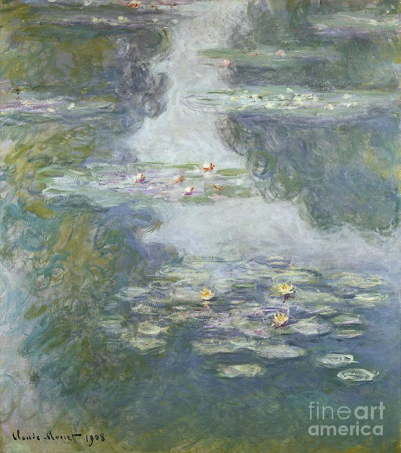 Pads Painting - Waterlilies by Claude Monet